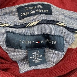 Tommy Hilfiger Shirts - 🌷Tommy Hilfiger Classic Maroon Gray Striped Polo
